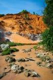 Gorge de fleuve rouge, Ne de Mui, Vietnam Photos stock