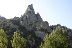 Gorge de Galamus. Canyon in South of France Royalty Free Stock Photo