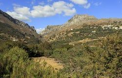 Gorge de Kotsifou vue de Plakias image libre de droits