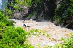 Gorge de la HU Tiao (tigre branchant) Photos libres de droits