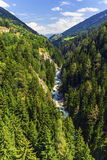 Gorge de la Lama, Valais canton, Switzerland Royalty Free Stock Image