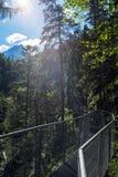 Gorge de Leutasch dans les alpes allemandes, Bavière photographie stock libre de droits