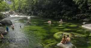 Gorge de Mossman - rivière en parc national de Daintree, Australie banque de vidéos