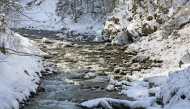 Gorge de Partnachklamm - de Partnach près de Garmisch-Partenkirchen bavaria l'allemagne image libre de droits