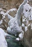 Gorge de Partnachklamm - de Partnach près de Garmisch-Partenkirchen bavaria l'allemagne images stock
