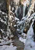 Gorge de Partnachklamm - de Partnach près de Garmisch-Partenkirchen bavaria l'allemagne photo stock