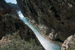 Gorge de paysage de l'Espagne Images libres de droits