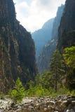 Gorge de Samaria. Photographie stock libre de droits