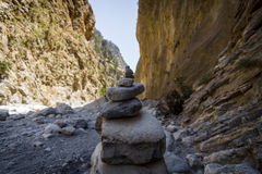 Gorge de Samaria Image stock
