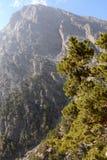 Gorge de Samaria sur l'île de Crète Belles montagnes maximales image libre de droits