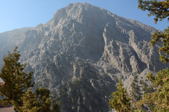 Gorge de Samaria sur l'île de Crète Belles montagnes maximales photos stock