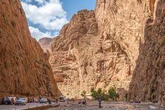 Gorge de Todgha - canyon en montagnes d'atlas du Maroc Image libre de droits