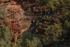 Gorge de vallées, parc national de Karijini Photographie stock