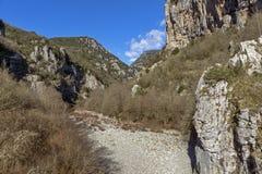 Gorge de Vikos et montagnes de Pindus, Zagori, Épire Photos libres de droits