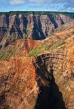 Gorge de Waimea, Kauai - vue aérienne Images libres de droits