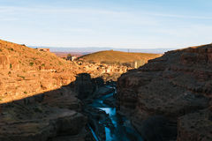 Gorge DES Berrem, Midelt, Maroc Image stock