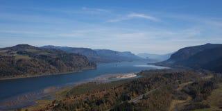 Gorge du fleuve Columbia dans le nord-ouest Pacifique Image libre de droits