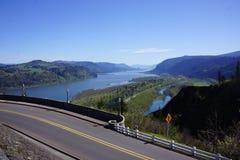 Gorge du fleuve Columbia, l'Orégon, et route historique image stock