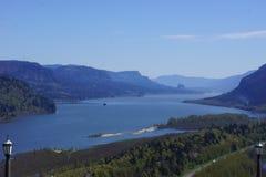 Gorge du fleuve Columbia, Orégon, comme vu de la Chambre de vue photos libres de droits