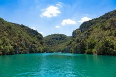 Gorge du Verdon canyon river in France. Gorge du Verdon canyon river in south of France Royalty Free Stock Photography