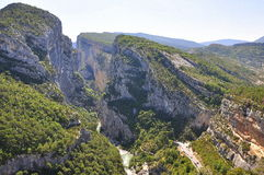 Gorge Du Verdon Frace stockfotografie