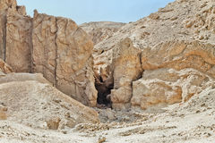Gorge in the Egyptian desert Stock Photography