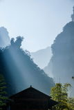Gorge en bambou de Tianshui de mer de Hubei Zigui Three Gorges Photo stock