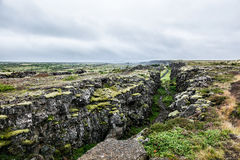 Gorge en Islande Photographie stock