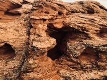 Gorge en pierre rouge images stock