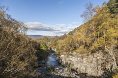 Gorge at Feshiebridge in the Highlands of Scotland. Gorge at Feshiebridge in the Cairngorms National Park in Scotland Stock Photography