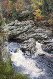 Gorge on the Findhorn River at Moray in Scotland. Stock Photography