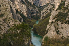 Gorge of Furlo in Italy Royalty Free Stock Photos