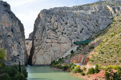 Gorge of the Gaitanes near El Chorro Royalty Free Stock Image