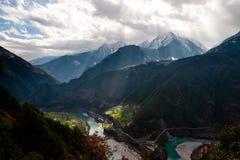 Gorge grande de Nujiang Photos libres de droits