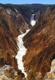 Gorge grande de stationnement national de Yellowstone Photo stock