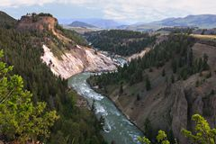 Gorge grande de stationnement national de Yellowstone photos libres de droits