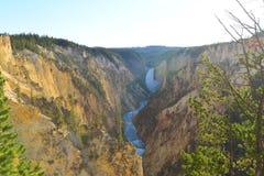 Gorge grande du Yellowstone Photos libres de droits