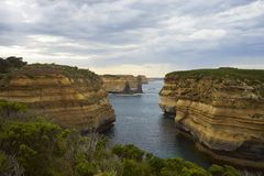 Gorge on great ocean road Stock Photography