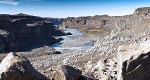 Gorge Jokulsargljufur, Islande Photos libres de droits
