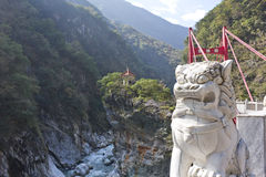 Gorge magnifique en stationnement national de Taroko, Taiwan Image stock