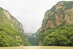 Gorge Mexique de Sumidero Photos libres de droits
