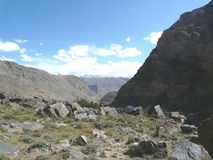 Gorge in the mountainous Badakhshan Stock Images