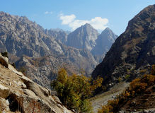 The gorge near the river of Siam. In 50 kilometers from Dushanbe Tajikistan Royalty Free Stock Photo