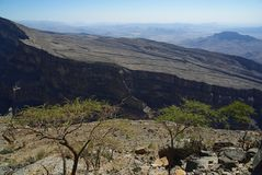 Gorge Oman Image stock