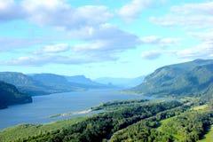 Gorge Orégon du fleuve Columbia Photo stock