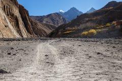 Gorge of the Panda Khola River, near Lupra Village. Lower Mustang, Nepal stock photo