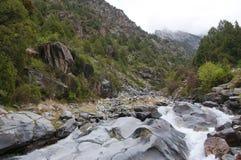 Gorge pittoresque Dugoba au Kirghizistan Photos stock