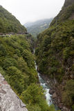 A Gorge in the Pyrenees. Stock Image