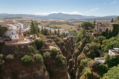 The gorge at Ronda, Andalucia, Spain stock photos