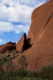 Gorge rouge dans le désert Images stock